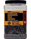 Composite Deck Screws Teak, 10 x 2-3/4, C-Deck Coated Star Drive, 350 ct, CD234TK350