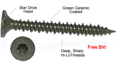cement board screws