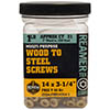 ( FHD10158-1 ) 10-16 x 1-5/8 in Star Drive ReamerTek Wood to Steel Screw / 118 ct 1lb Jar