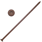 Gutter Screws Brown, 14 x 7, Coated Star Drive, ea, GTR147B-ea