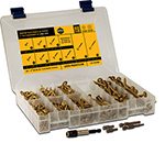 ( CLCK ) Star Drive Bronze Star Construction Lag / Modified Truss Head Wood Screw Assortment Kit
