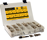 Flat Head Wood Screw Assortment Kit, Silver Star Stainless Steel Star Drive, SSAK