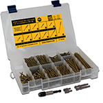 Trim and Finish Wood Screw Assortment Kit, Star Drive, TFAK