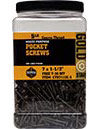 Pocket Screws Fine Thread, 7 x 1-1/2, Star Drive, 846 ct, CTX7112F-5