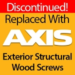 Flat Head Wood Screws, 9 x 2-1/2, Bronze Star ACQ Compatible Star Drive, 2500 ct, BTX-09212
