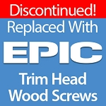 Trim Head Wood Screws, 9 x 3, Silver Star Stainless Steel Star Drive, 91 ct, SSTH-09300-1