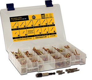 ( YAK ) Gold Star Interior MultipurposeStar Drive Wood Screw Assortment Kit